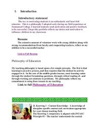 Resume Introductory Statement Examples by Sample Portfolio Pdf Flipbook