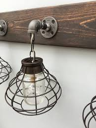 3 mason jar vanity light fixture with shade aftcra