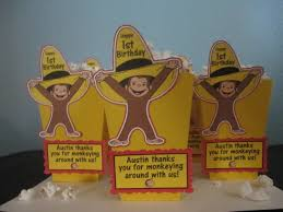Curious George Centerpieces by Curious George Popcorn Boxes 20 Centerpiece Curious George Party