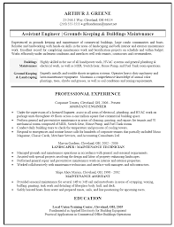 Building Contractor Resume Facility Engineer Sample Resume