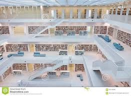 municipal public library of stuttgart germany editorial photo