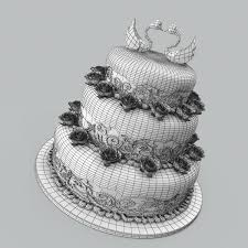 wedding cake model wedding cake 3d cgtrader