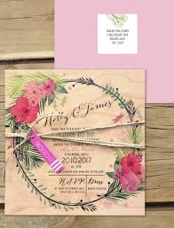 wedding invitations online australia tropical paradise invitation printed on wood online australia