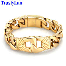 aliexpress buy real brand italina rings for men hot gold wide men 39 s bracelet reviews online shopping gold wide
