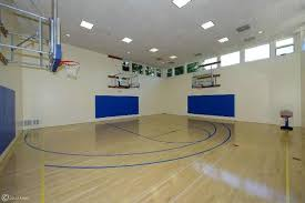 Basketball Courts With Lights 16 Homes With Basketball Courts You Can Buy Now Huffpost