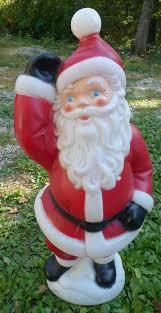 lighted plastic christmas yard decorations vtg 40 waving santa claus plastic lighted yard lawn blowmold