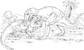 dinosaur gorgosaurus and monoclonius coloring page dinosaur