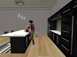 modern kitchen island second life marketplace yupe modern kitchen island black