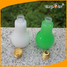light bulb bubble tea food grade material 300ml 500ml light bulb shape plastic bottle for