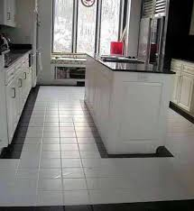 White Kitchen Tile Floor White Clean Kitchen Designs With Ceramic Tile Floor Home Retro