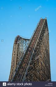 New York Six Flags Great Adventure Wooden Roller Coaster Stock Photos U0026 Wooden Roller Coaster Stock