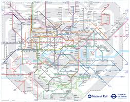 London Airports Map Map Of London Commuter Rail Stations U0026 Lines