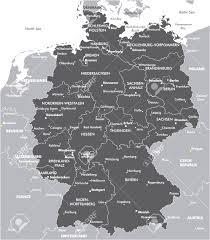 Black And White Map Deutschlandkarte Germany Map Vector Cool Black And White Map Of