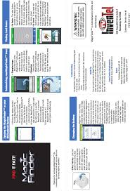 as seen on tv light up track mf mo magic finder user manual magic finder manual pro tv