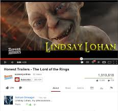 Memes Youtube - gollum loves lindsay lohan youtube roleplay accounts know your meme