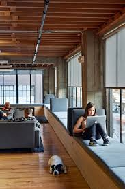 this window seat is in an office in san francisco california