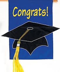 congratulations graduation banner congratulations graduation banner flag grad cap
