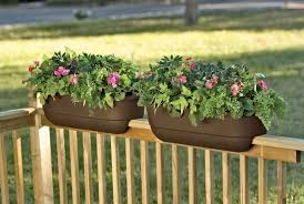 exterior unique exterior using deck rail planters with variant