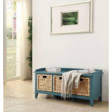 blue bench entryway benches u0026 trunks entryway furniture