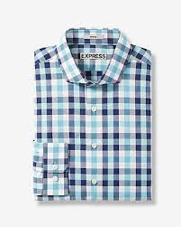 slim fit plaid performance dress shirt express