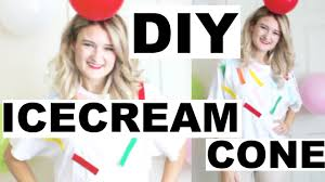 diy ice cream cone costume easy cheap last minute halloween