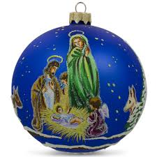 4 praying nativity ukrainian glass