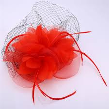 u7 hair accessories women jewelry european style veil feather