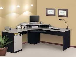 Black Wood Computer Desk Wooden Computer Stand Interesting Executive Office Wooden