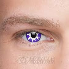 tempest 90 day purple coloured contact lenses halloween zombie