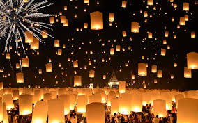 fireworks lantern photo thailand fireworks lantern floating lanterns loi 1920x1200
