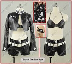 Saw Costume Online Shop Black Rock Shooter Black Gold Saw Cosplay Costume Free
