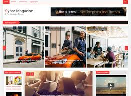templates bootstrap html5 sybar magazine free templates html5 for magazine website