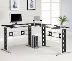 Best Computer Desk Design Techni Mobili Glass Top Computer Desk Clear 746