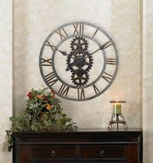 Decorative Wall Clocks For Living Room Decor Therapy Oversized Antique Map Wall Clock Surripui Net