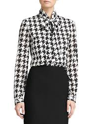 houndstooth blouse st collection marco houndstooth blouse caviar