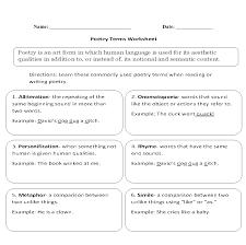 englishlinx com poetry worksheets