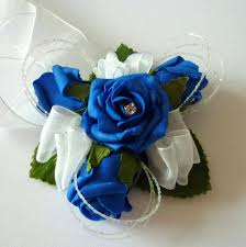 royal blue corsage royal blue wrist corsage wedding corsages posie