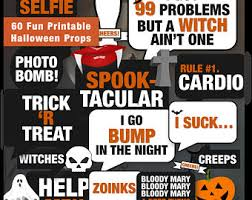 halloween photo booth props printable pdf halloween props etsy