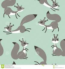little cute squirrels seamless pattern for gift wrapping