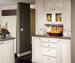 Kitchen Glazed Cabinets Off White Glazed Cabinets In Traditional Kitchen Decora