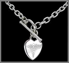 silver bracelet with pendant images Medical tag retailer of medical identification products tags jpg