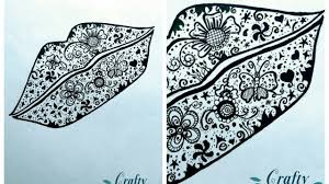 how to doodle easy lips shape doodle art ideas for beginners