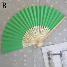 fan favors summer bamboo folding paper silid fan gift home decor