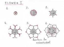 draw beautiful smooth mehndi flower small easy