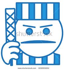 emoji robe emoji angry prisoner striped robe hat stock vector 1010955052