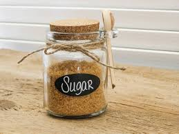 sugar jar chalkboard canister tea coffee herb small containers