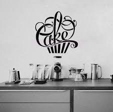 vinyl mural cuisine stickers cuisine cupcake vinyl wall decals wallpaper for kitchen