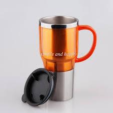 heated coffee mug new 12v 75w car electric kettle 450ml holder auto heating cup