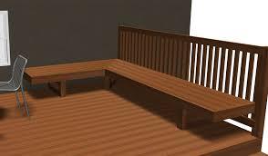 standard height width bench deck decks fencing architecture