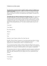 cover letter professional cover letter template professional cover
